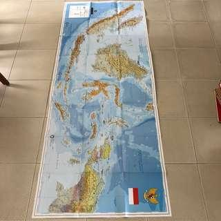 Indonesia Wall Map 180cm (L) x 70cm (H), 1:3000000 Scale, Published in 2005