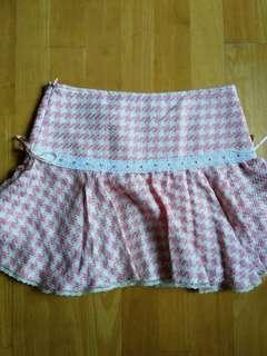Pink checked skirt