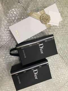 C.DIOR empty boxes