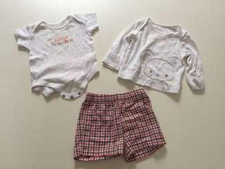 Take all baby apparel up to 3 months