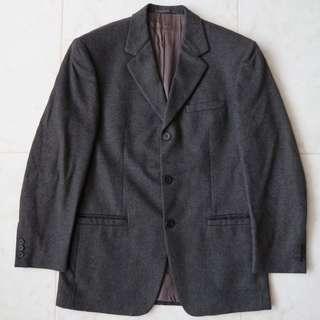 🚚 Versus V2 Versace Lana Cashmere 3 Button Blazer Suit Jacket