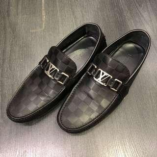 Louis Vuitton Damier Infini Leather Loafers (Hockenheim Car Shoe)