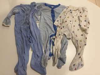 Take all 3 pcs sleepsuits Mothercare