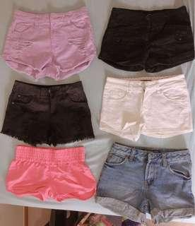 Assorted shorts $8 each