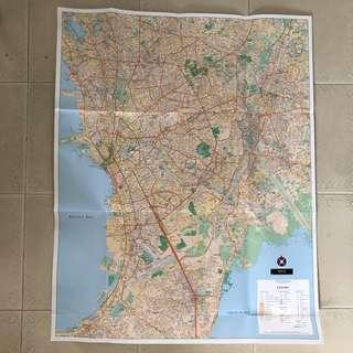 Manila Wall Map 70cm (L) x 88cm (H), 1:30000 Scale