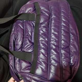 Purple gym bag
