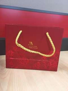 2019 Tangs Marriott CNY Mandarin Oranges Paper Bag Carrier