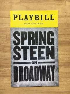 Spring Steen on Broadway Playbill
