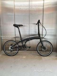 Crius Velocity 9speed 20inch Internal Hub Folding Bicycle