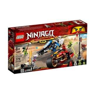 Lego Legency  70667  Kai's Blade Cycle and Zane's Snowmobile/ 70666/70680