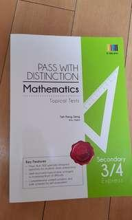 Pass with distinction mathematics (elementary) topical tests seciindary 3/4 express