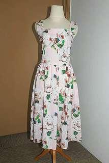 Vintage Style Midi Dress