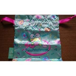 全新Sanrio扭蛋絹布索袋 KP 青蛙