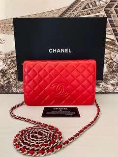 近新 Chanel Woc Bag 全皮銀鏈條