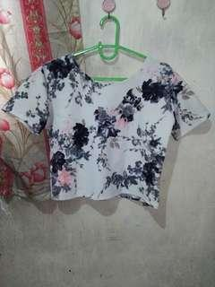Floral Loose Blouse (slightly cropped)