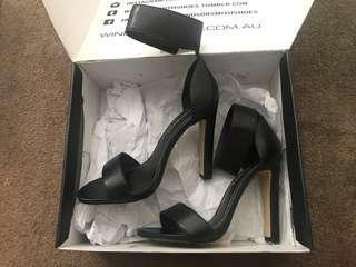 Windsor Smith Black Leather Heels