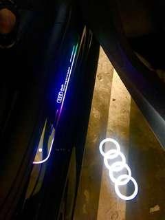 AUDI A1 A2 A3 A4 A5 A6 A7 A8 Q2 Q3 Q5 Q7 B8 B9 4G 8P 8V LED RUNNING SCUFF PLATE