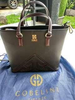 Gobelini Black Satchel Bag