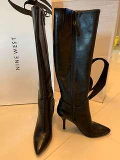 Nine West leather Boots 黑色皮鞋