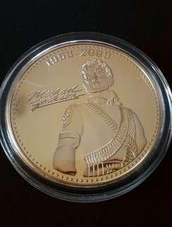 Michael Jackson gold plated coin