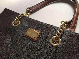Calvin Klein Monogram Handbag Brown