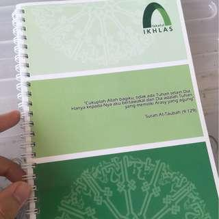 Notebook TAKAFUL IKHLAS (NEW)