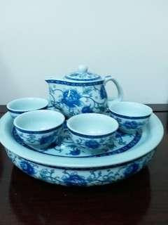 牡丹花瓷茶具套裝