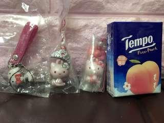 (包本地平郵)全新Hello Kitty 扭蛋玩具三件