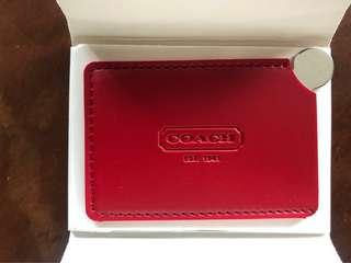 Authentic Coach Red Card Holder