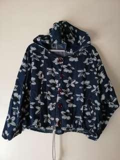 Floral maong jacket