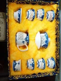 玲瓏花瓷茶具套裝