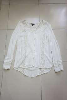 American Eagle White Longsleeves