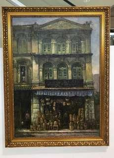 Old shophouse painting