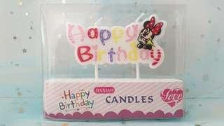 Minnie Mouse Birthday Candle