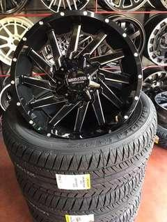 """•20"""" Mags Monster et20 6x139.7 20x9  •with 265/50x20 Dunlop PT2 made in Japan •brandnew"""