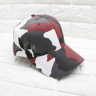 🚚 台南 武星級 棒球帽 紅色 迷彩( 生存遊戲 cosplay 軍帽 帽子 小帽 偽裝帽 鴨舌帽 攝影 登山 牛仔帽 防曬 旅遊