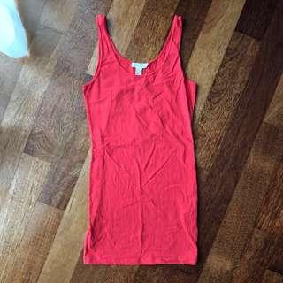 Pre-loved: Singlet Bodycon Dress #CNYRed #CNY888