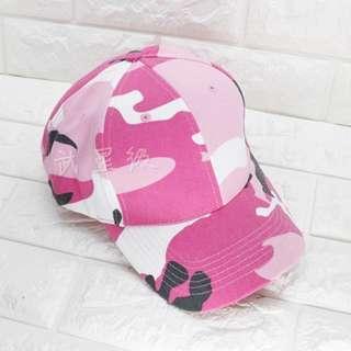 🚚 台南 武星級 棒球帽 粉紅 迷彩( 生存遊戲 cosplay 軍帽 帽子 小帽 偽裝帽 鴨舌帽 攝影 登山 牛仔帽 防曬 旅遊