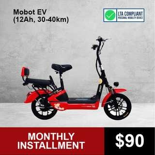 Mobot EV 2019 (12Ah, 30-40KM) Seated Electric Scooter