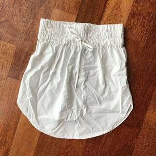 BNWOT: Drawstring White Skirt #CNY888