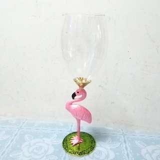 全新粉紅色火烈鳥紅酒杯