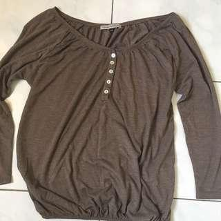 Bershka Plain Top in Brown