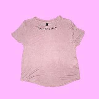 h&m girls bite back shirt