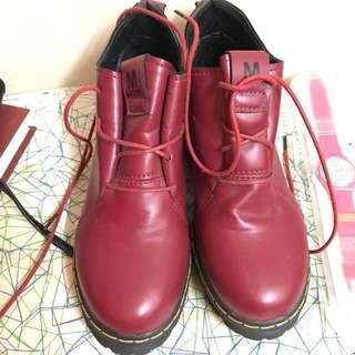 Maroon Boots Inspired Dr Martens