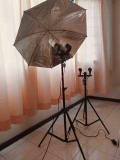 45W Dual Bulb Photography Light with Stand