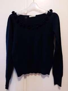 earth music navy blue top