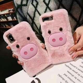 New! Cute Furry Pig Luxury Case (Please read description)