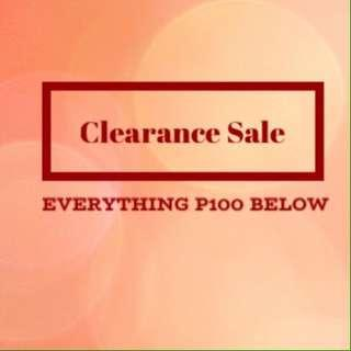 Clearance Sale Everything P100 Below