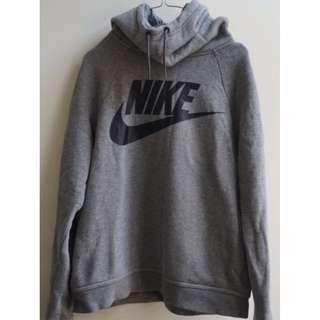 Nike Rally Logo Hoodie In Grey