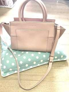 Charles & Keith pastel sweet pink bag with sling